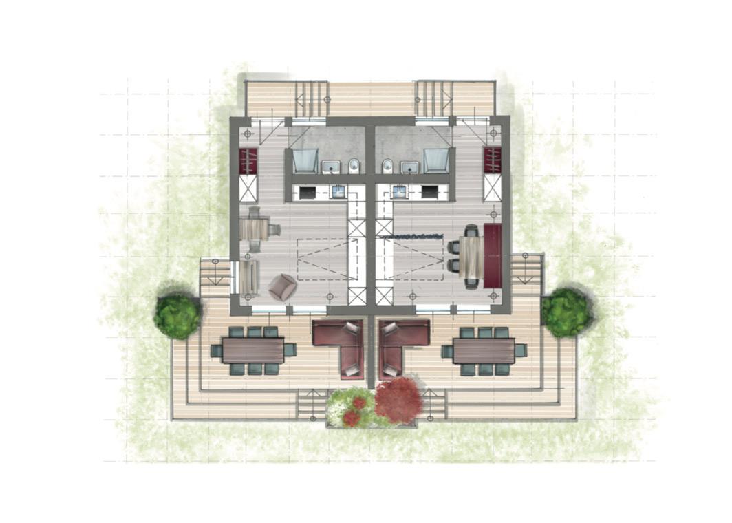 ZiKK 2.0 - Grundriss Apartmenthaus
