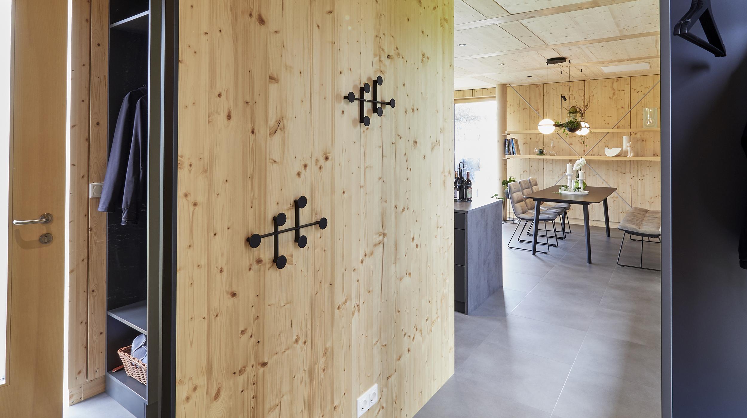 ZiKK 2.0 Musterhaus Vitis - Blick von der Haustüre in die Wohnküche
