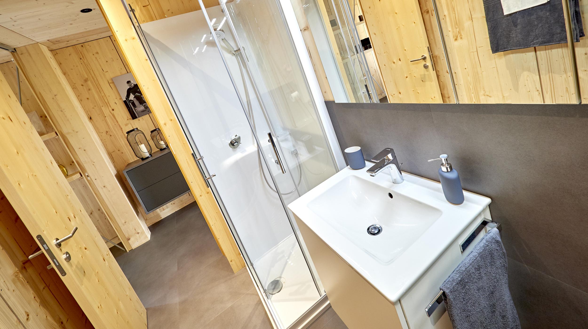 ZiKK 2.0 Musterhaus Vitis - Blick in das Badezimmer