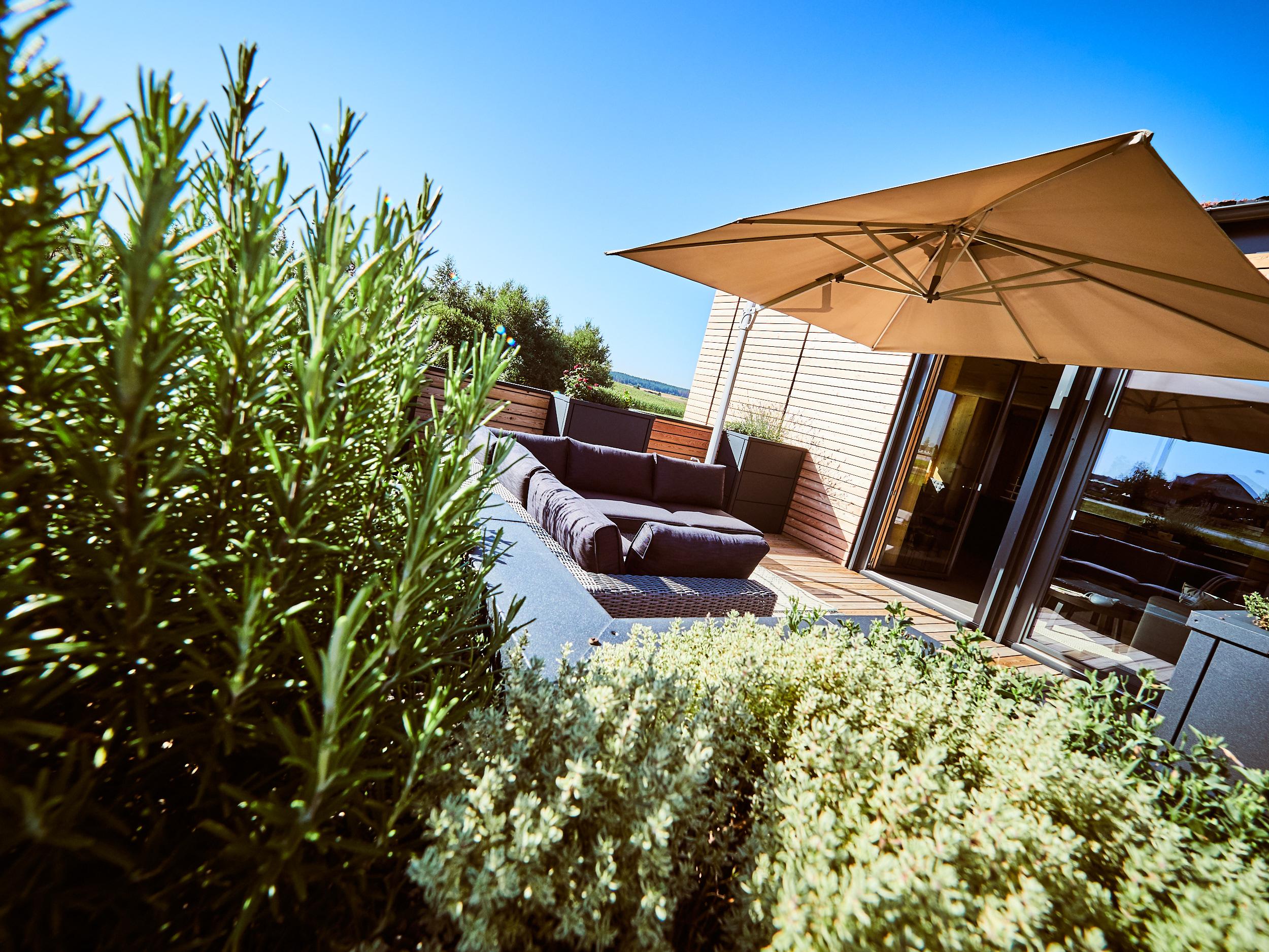 ZiKK 2.0 Musterhaus Vitis - Ambiente der Terrasse